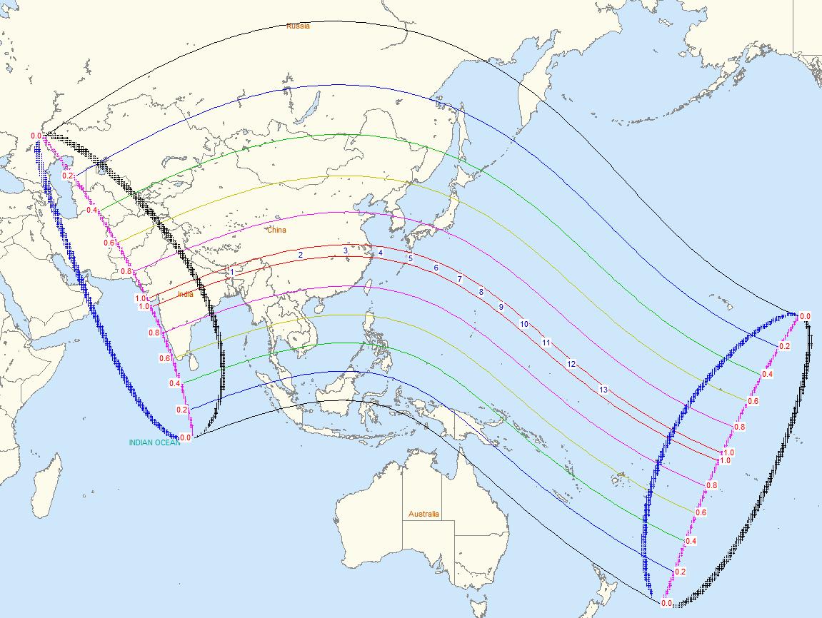 Janus Eclipse Map
